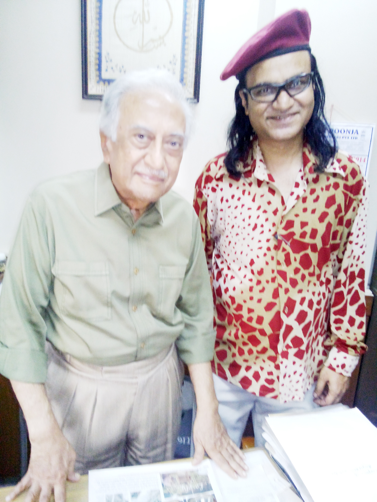 Ameen Sayani With Jazzy Joe